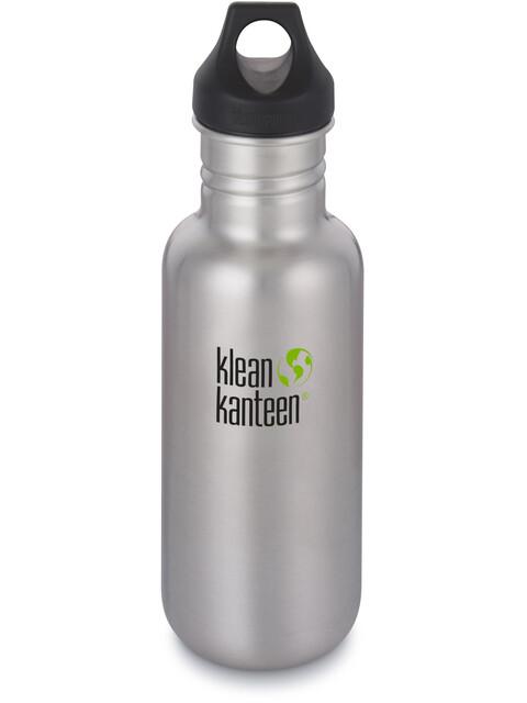 Klean Kanteen Classic Bottle Loop Cap 532ml Brushed Stainless